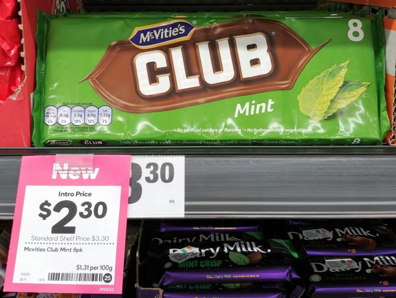 McVitie's 8 Pack Club Mint