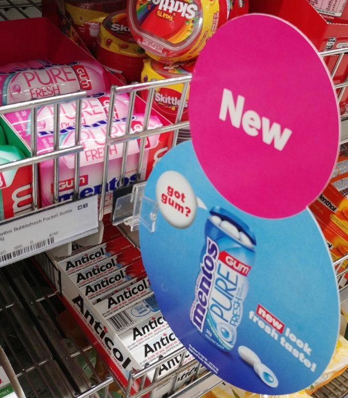 Mentos 30g Gum Pure Fresh Mint POS
