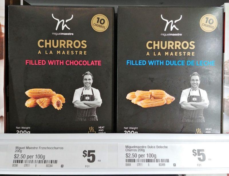 Miguel Maestre 200g Churros A La Maestre Filled With Chocolate, Dulce De Leche