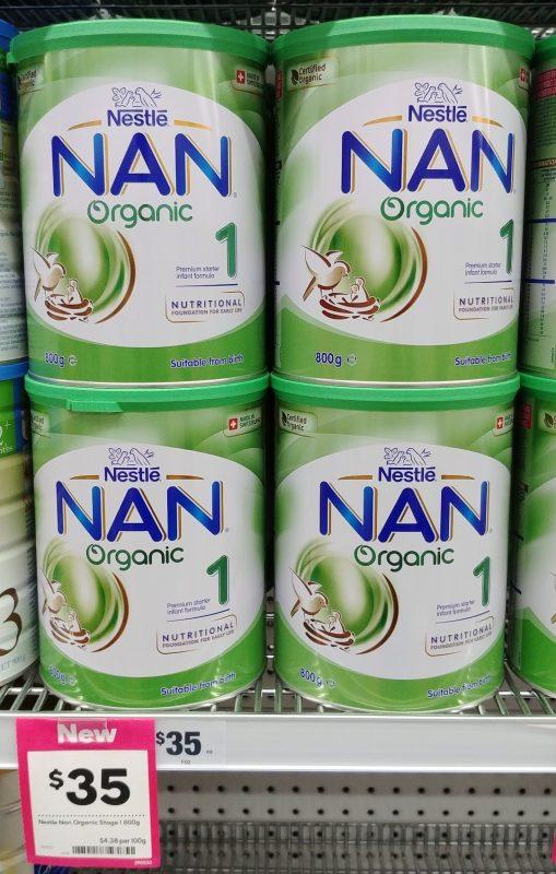 Nestle 800g Nan Organic 1 Premium Starter Infant Formula