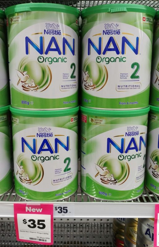 Nestle 800g Nan Organic 2 Premium Follow On Formula