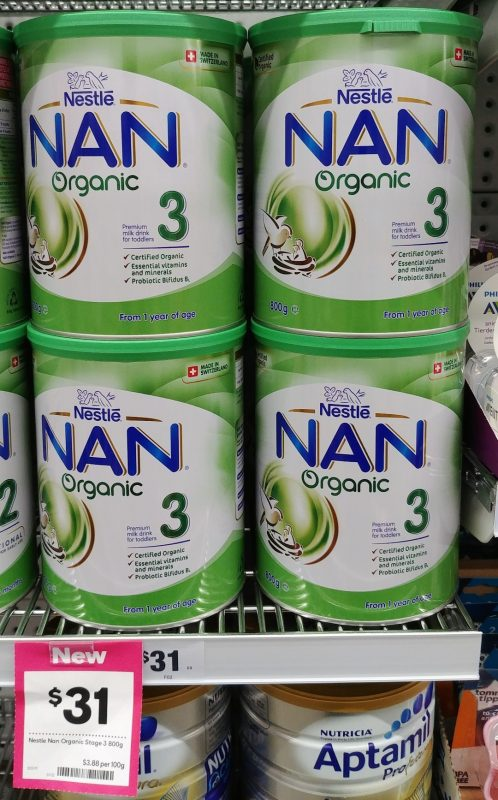 Nestle 800g Nan Organic 3 Premium Milk Drink For Toddlers