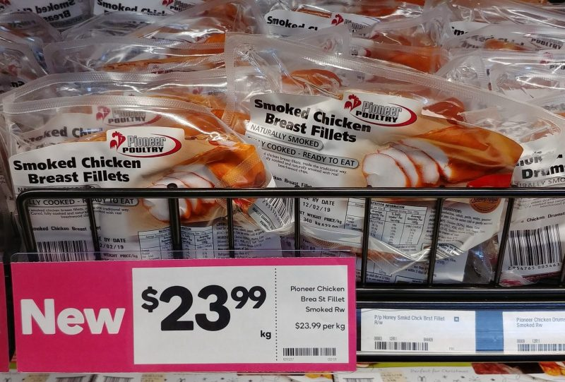Pioneer Poultry $23.99 Kg Chicken Breast Fillets Smoked