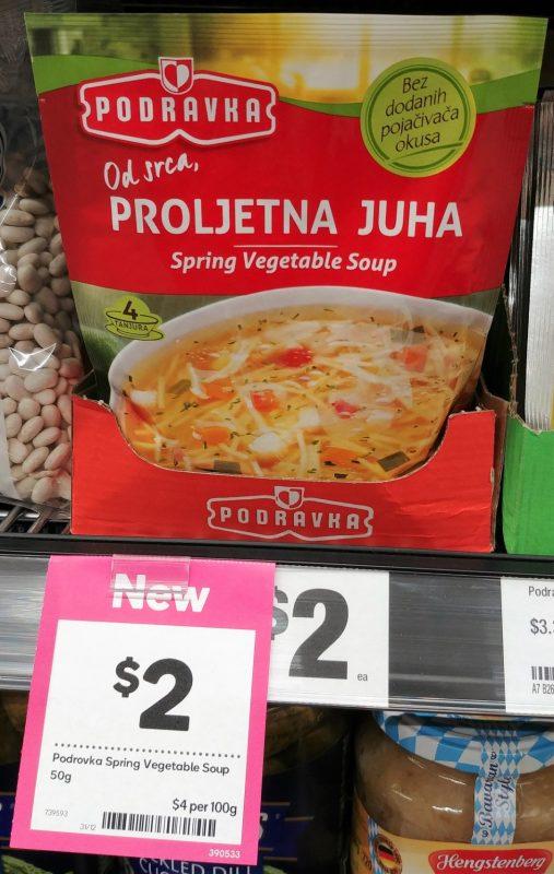 Podravka 50g Soup Spring Vegetable Proljetna Juha