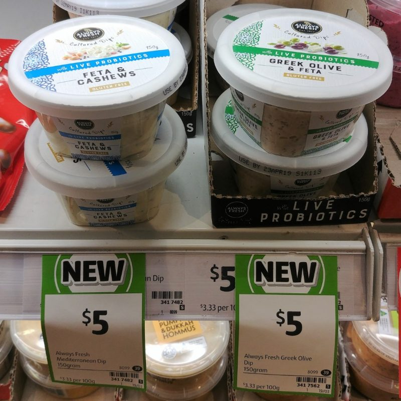 Always Fresh 150g Dip Feta & Cashews, Greek Olive & Feta