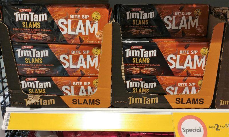 Arnott's 175g Tim Tam Slams Choc Hazelnut & Gooey Caramel Flavour