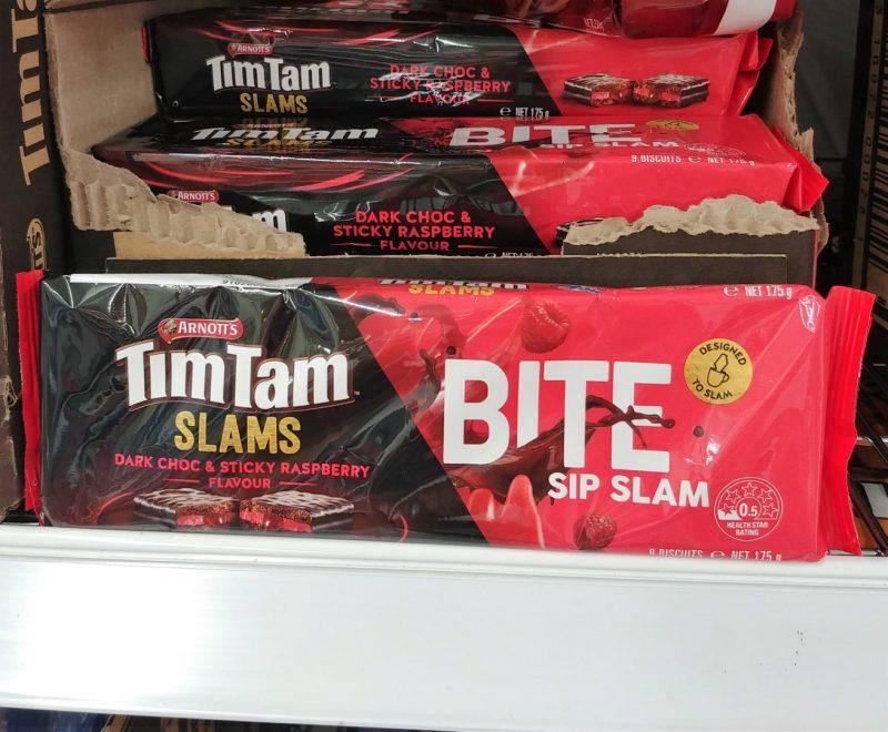 Arnott's 175g Tim Tam Slams Dark Choc & Sticky Raspberry Flavour