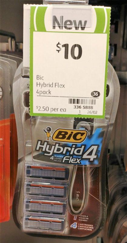 Bic 4 Pack Blades Hybrid Flex
