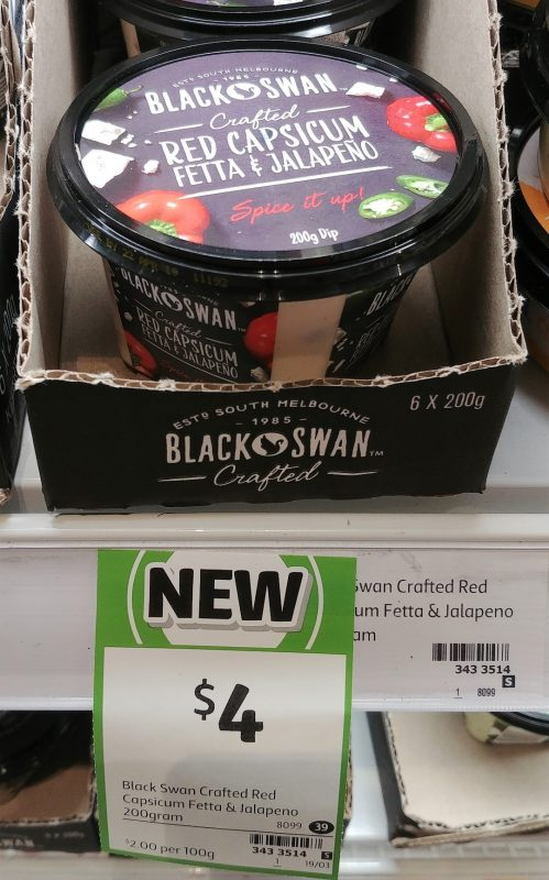 Black Swan 200g Crafted Red Capsicum Fetta & Jalapeno