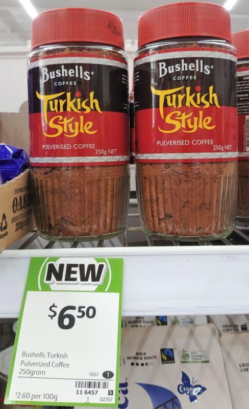 Bushells 250g Coffee Pulverised Turkish Style