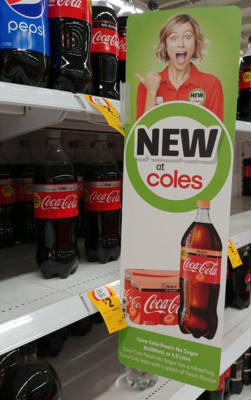 Coca Cola 8 X 200mL, 1.5L No Sugar Peach New Girl Jenny