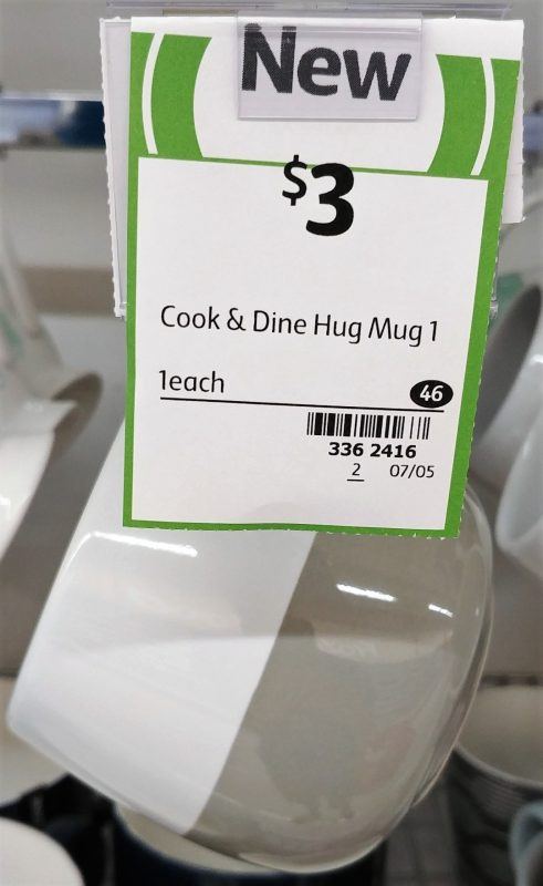 Coles 1 Pack Cook & Dine Mug Hug 1