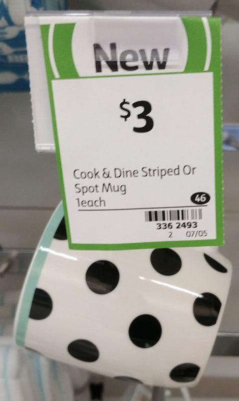Coles 1 Pack Cook & Dine Mug Stiped Or Spot