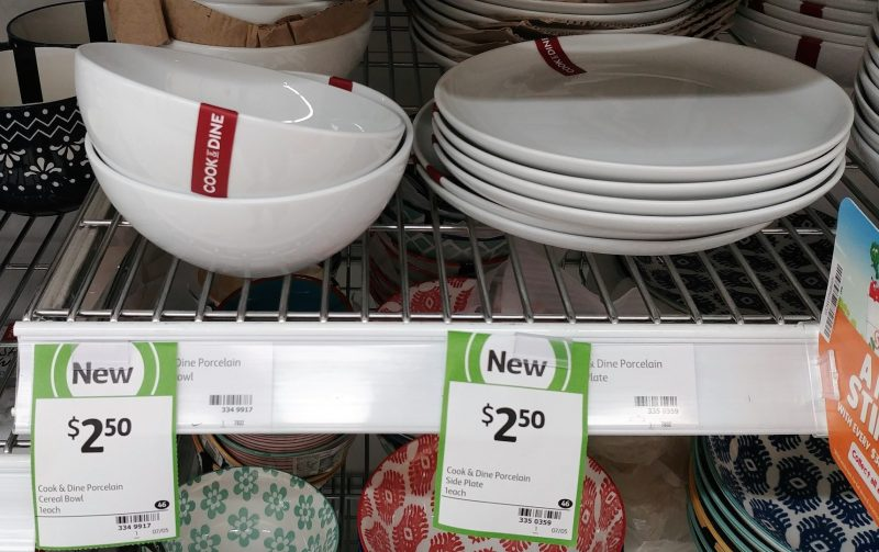Coles 1 Pack Cook & Dine Porcelain Bowl Cereal, Plate Side