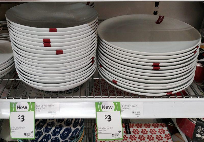Coles 1 Pack Cook & Dine Porcelain Bowl Pasta, Dinner Plate