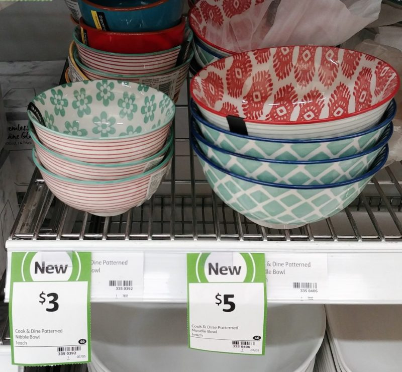 Coles 1 Pack Cook & Dine Porcelain Bowl Patterned Nibble, Noodle