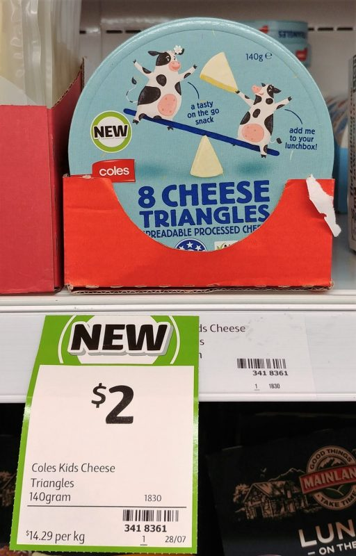 Coles 140g Cheese Triangles