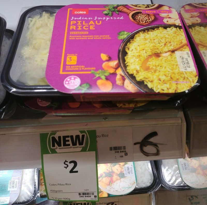 Coles 150g Indian Inspired Rice Pilau