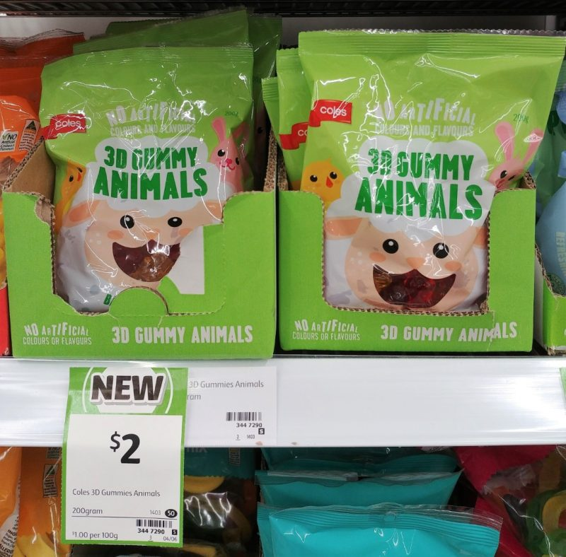 Coles 200g 3D Gummy Animals