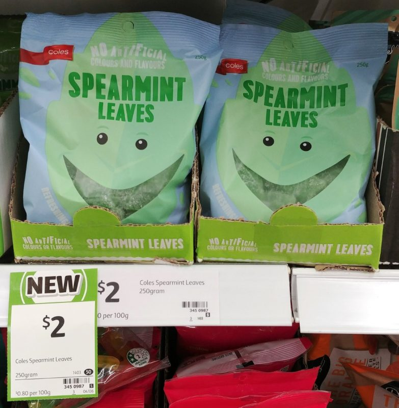 Coles 250g Spearmint Leaves