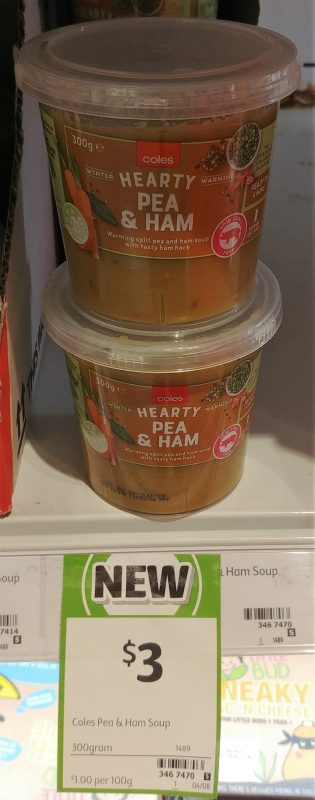 Coles 300g Soup Hearty Pea & Ham