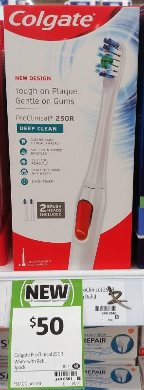 Colgate 1 Pack Toothbrush ProClinical 250R Deep Clean