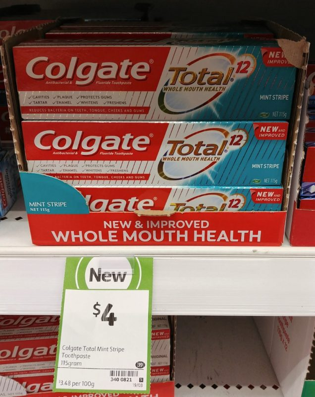 Colgate 115g Total 12 Toothpaste Mint Stripe
