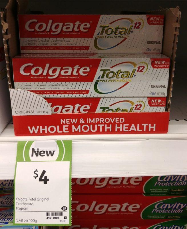 Colgate 115g Total 12 Toothpaste Original