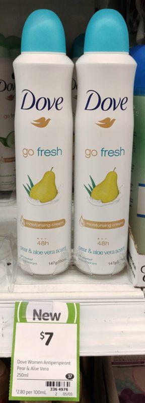 Dove 250mL Go Fresh Antiperspirant Pear & Aloe Vera Scent