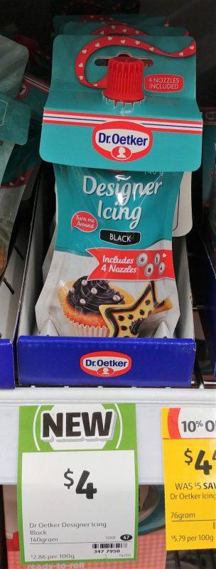 Dr Oetker 140g Icing Designer Black