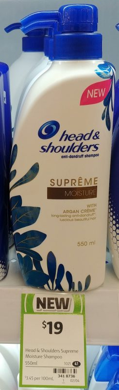 Head & Shoulders 550mL Supreme Anti Dandruff Shampoo Moisture