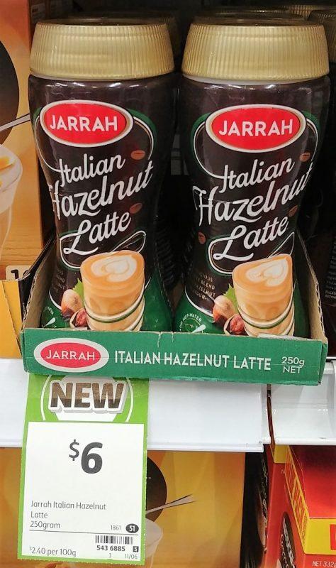 Jarrah 250g Latte Italian Hazelnut