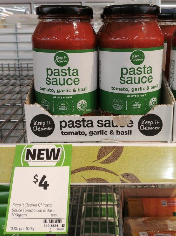 Keep It Cleaner 500g Sauce Pasta Tomato, Garlic & Basil