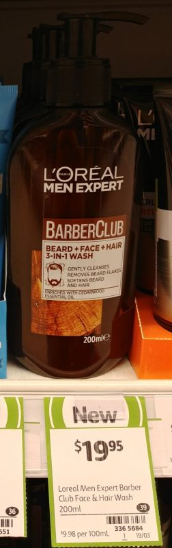 L'Oreal 200mL Men Expert Barber Club Wash Bread + Face + Hair