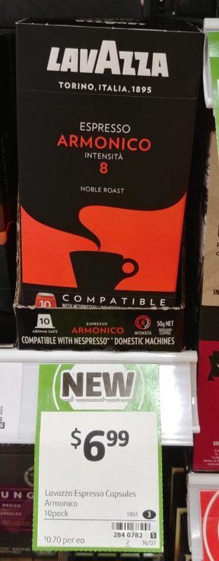 Lavazza 10 Pack Coffee Espresso Armonico