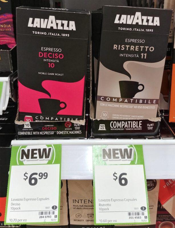 Lavazza 10 Pack Coffee Espresso Deciso, Ristretto