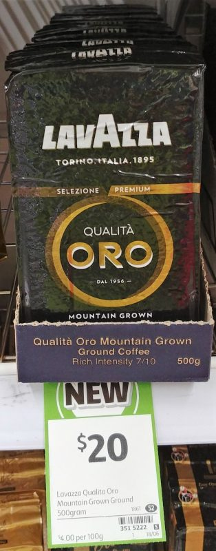 Lavazza 500g Ground Coffee Qualita Oro Mountain Grown