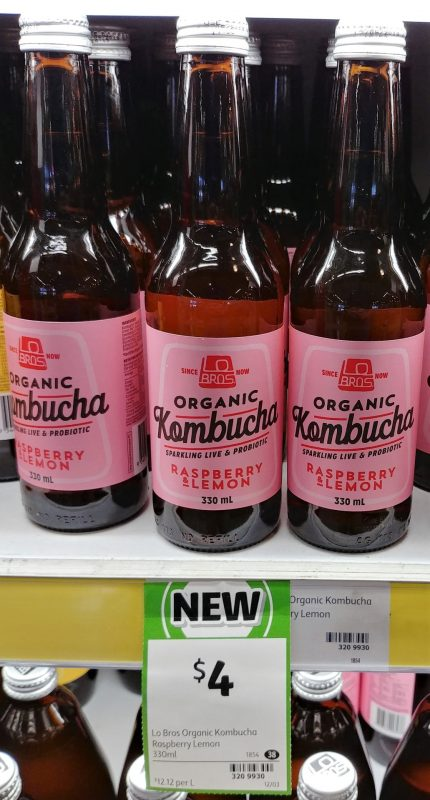Lo Bros 330mL Kombucha Organic Raspberry & Lemon