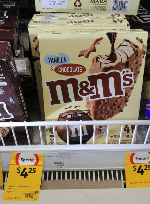 M&M's 4 X 78mL Vanilla & Chocolate