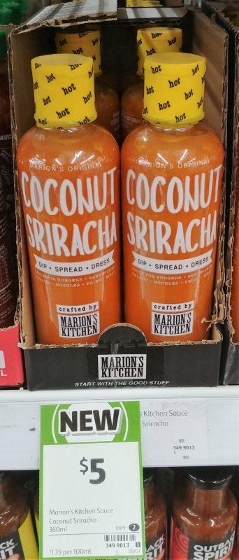 Marion's Kitchen 360mL Sauce Coconut Sriracha