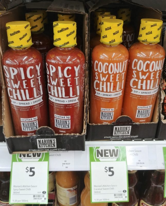 Marion's Kitchen 360mL Sauce Spicy Sweet Chilli, Coconut Sweet Chilli