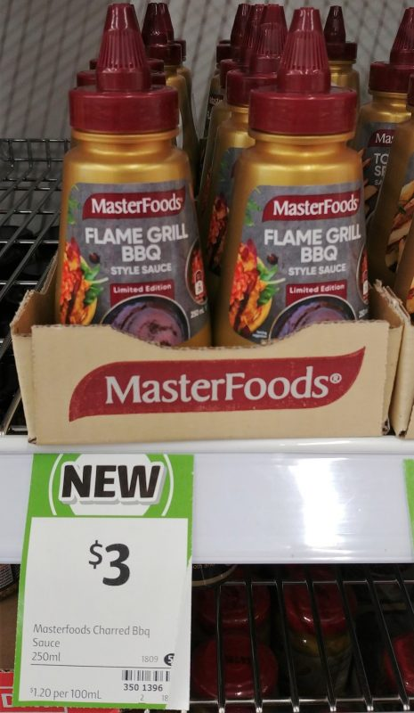 MasterFoods 250mL Sauce Limited Edition Flame Grill BBQ