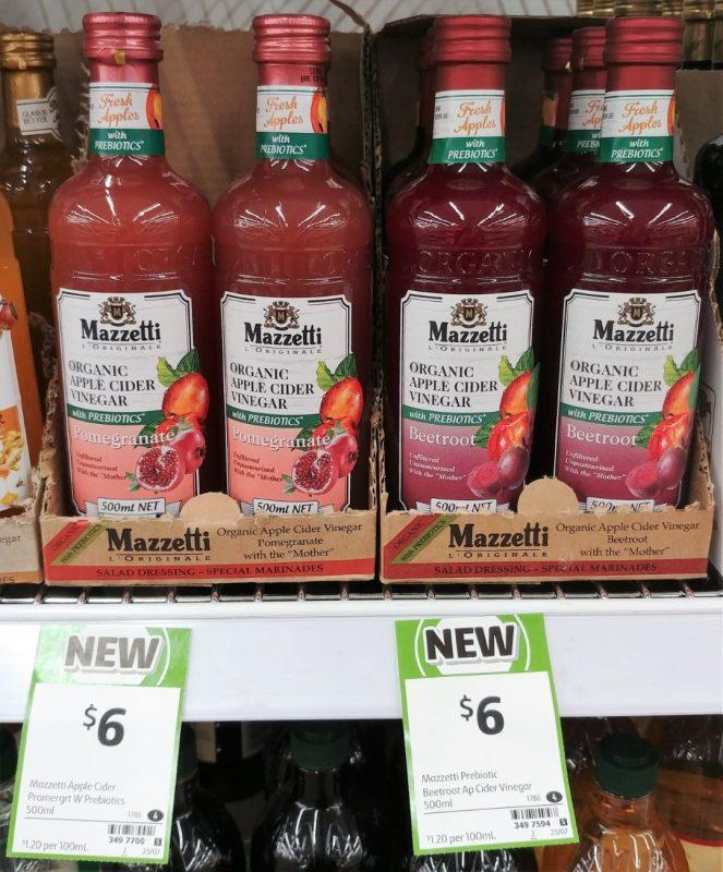 Mazzetti 500mL Apple Cider Vinegar Organic Pomegranate, Beetroot