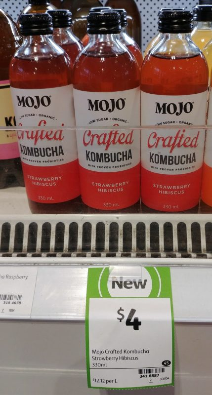 Mojo 330mL Kombucha Strawberry Hibiscus
