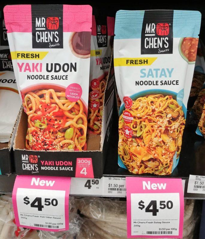 Mr Chens 300g Noodle Sauce Yaki Udon Satay 7