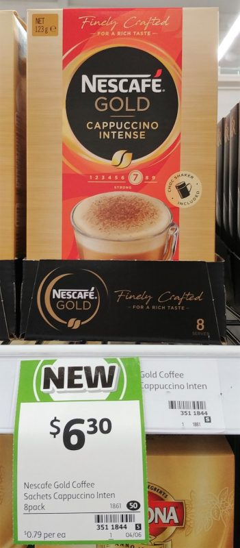 Nescafe 123g Gold Cappuccino Intense