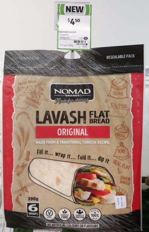 Nomad Breads 390g Flat Bread Lavash Original