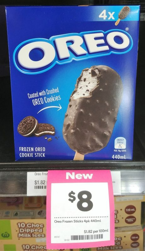 Oreo 440mL Frozen Oreo Cookie Stick 8