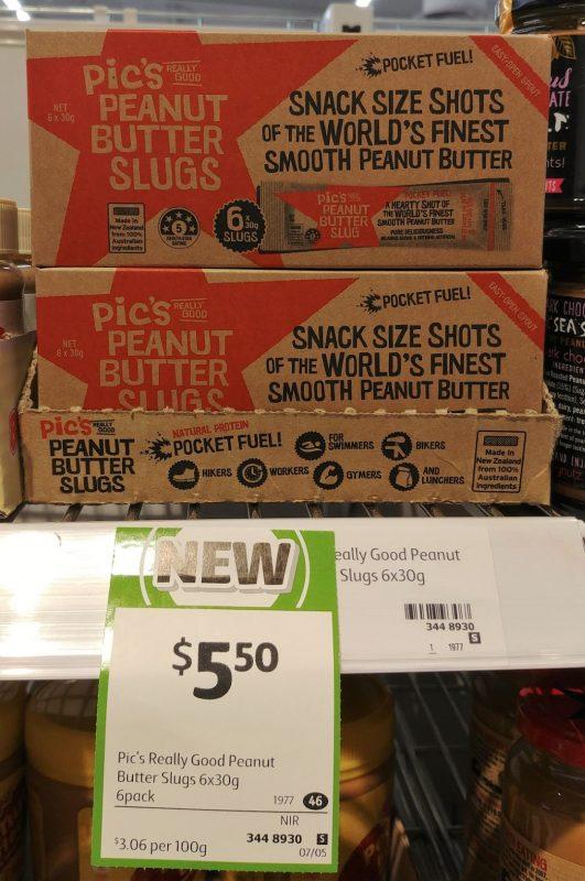 Pic's 6 X 30g Peanut Butter Slugs