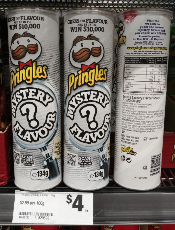 Pringles 134g Mystery Flavour